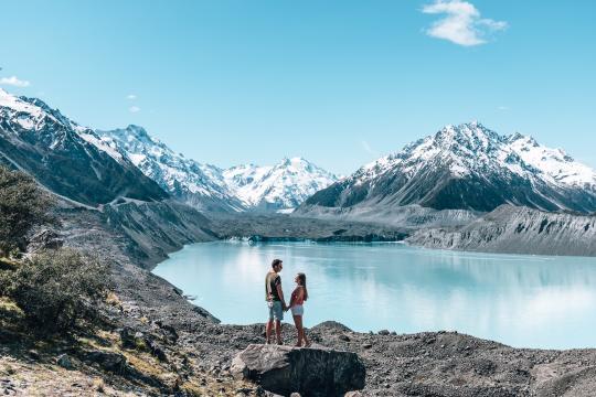 Blue Lakes & Tasman Glacier