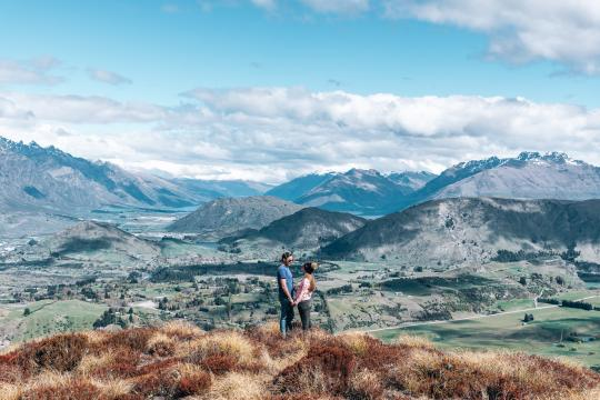 Drive up to Coronet Peak