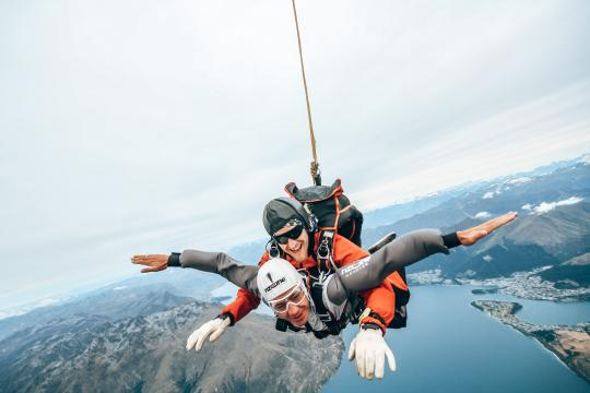 Go Skydiving with the best view